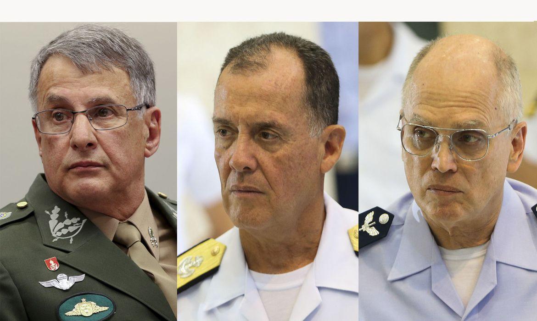 Comandantes do Ex�rcito, da Marinha e da Aeron�utica deixam cargos