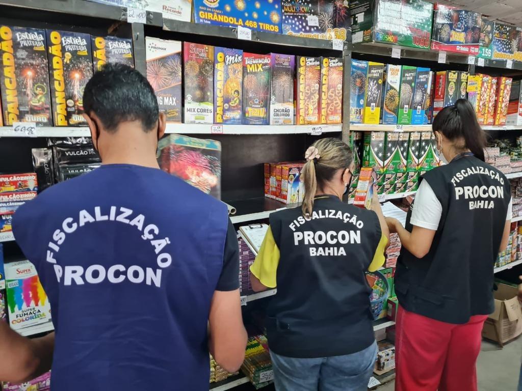 Procon-BA inicia fiscaliza��o de lojas de fogos de artif�cio em Salvador e Lauro de Freitas