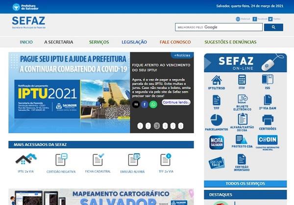 Novo site da Sefaz Salvador traz mais servi�os e facilidade aos cidad�os
