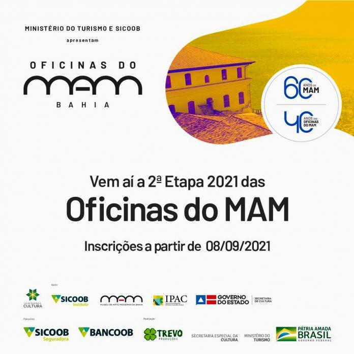 Come�am nesta quarta-feira (08) inscri��es para a 2� etapa das Oficinas do MAM 2021